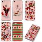 Lovely Christmas Pattern Phone Cover Back Case for iPhone 5 5S 5C 6 6S 7 8 Plus
