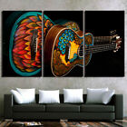 Music Instrument Vintage Guita Painting Poster Modern Canvas Wall Art Home Decor