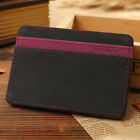 Fashion Men's Magic Bag PU Leather Money Clip Wallet ID Credit Card Cash Holder