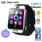 watch spring breakers mobile - Bluetooth Touch Screen Q18 Smart Watch For Android mobiles iPhone X 8 Sim Card