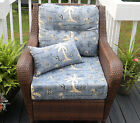 Deep Seating Cushions~Tommy Bahama Fabric Blue Nautical T...