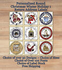 Personalized ROUND Holiday Christmas Winter 1 Return Address Labels Seals $3.69 USD on eBay