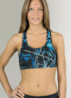 REVERSIBLE CAMOUFLAGE SPORTS BRA | MUDDY GIRL CAMO UNDERTOW BLUE
