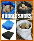 Builder Rubble Sack Black Blue Clear or Woven WPP CHOICE *100 Sacks from £15.25*