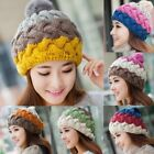 Women's Winter Warm Slouchy Beanie Knitted Crochet Ball Cap Baggy Beret Ski Hat