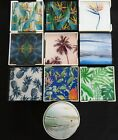 SET OF 6 GLASS COASTERS - CHOOSE FROM 7 FABULOUS DESIGNS