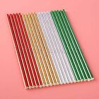 50pcs Disposable Bronzing Celebrations Wedding Birthday Event Party Paper Straw