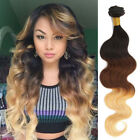 Full Head Brazilian Ombre Real Human Hair Extension Body Wave Hair Weft 1B/4/27