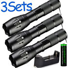Tactical 15000LM T6 Power LED Zoomable Flashlight + 18650&Charger USA