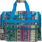 Womens Duffel Bag Travel Tote Overnight Carry On (Chevron)