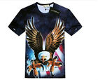 New Fashion Personality 3D Mens Womens T-Shirt Eagle COTTON & POLYESTER Tee