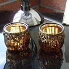 Moroccan VINTAGE LACE Tea Light Candle Holder Glass Gift Wedding 4 Colours