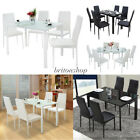 Contemporary Dining Table With 4 Chairs Dining Set Home Kitchen Furniture
