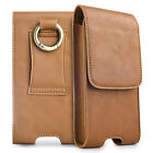 Real Leather Pocket Belt Holster Case Carrying Pouch Cover for All Cell Phone
