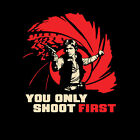 STAR WARS Han Solo Millennium Falcon Smuggler James Bond 007 Mens T-Shirt M $19.99 USD on eBay
