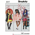 Simplicity Pattern #8317 Misses Cosplay Anime Geisha Kimono Costumes NEW UNCUT