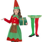 CHILDREN GIRLS ELF FANCY DRESS COSTUME CHRISTMAS SANTAS LITTLE HELPER OUTFIT