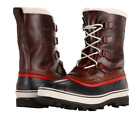 Sorel Mens Caribou Leather Wool Boots Removable Liner Winter Snow WL Burro Brown