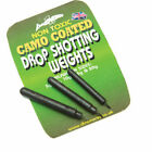 Dinsmores Camo Coating Drop Shotting Weights - Perch Bass Wrasse Fishing Tackle