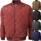 Внешний вид - Mens Flight BOMBER JACKET QUILTED Classic Premium Casual Zip Up Basic Puffer