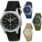 Seiko 5 Canvas Strap Automatic Stainless Steel Mens Watch image