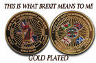 Gold/Silver Plated Commemorative Brexit Coins