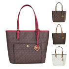 Michael Kors Jet Set Travel Logo Tote With A Front Snap Pocket - Choose Color