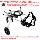 Stainless Steel Pet /Dog Wheelchair for Handicapped    Medium  Dog 8.8-49.6lb