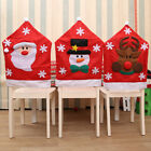 Christmas Santa Snowman Reindeer Chair Covers Party Dinner Decor Home Ornaments