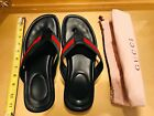 GUCCI Mens Thong SLIDE Sandals Signature Logo Flip-Flops Designer Dust Bag 13