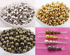 Metal Round Ball Diy Spacer Beads Gold Silver Plated 2.5mm 3mm 4mm 6mm 8mm