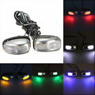 2 pcs Car Wiper Washer Eyes Spout Windshield Water Jet Spray Nozzle Led Light