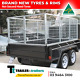 Watchers:345 8x5 TANDEM CAGE TRAILER - HEAVY DUTY - BUDGET SPECIAL - 3 FOOT CAGE