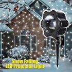 Snow Falling LED Laser Projector Light Xmas Snowflakes Night Christmas Lamp CA
