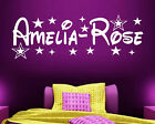 PERSONALISED NAME STARS WALL ART STICKER MURAL DECAL BOYS GIRLS CHILDRENS DECOR