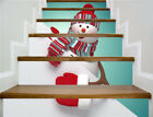"""3D PVC Merry Christmas Bell Self-adhesive Stair stickers Xmas Home Decor 39*7"""""""