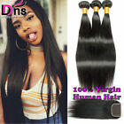 Straight Brazilian Virgin Hair 3 Bundles With 4*4 Lace Closure Human Hair Weaves