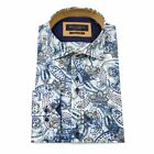 Guide London Multi Cotton Sateen Paisley Design Long Sleeve Shirt LS74334