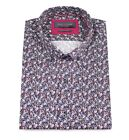 Guide London Black Cotton Dark Mini Floral Print Short Sleeve Shirt HS2188