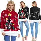 Womens A Very Merry Christmas Novelty Knitted Jumpers Sweater Xmas Sweater