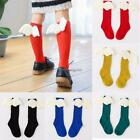 Kids Girls Cotton Knitted Socks Candy Color Tube Socks with Wings Size NC89