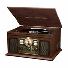 Victrola Wooden 6-in-1 Nostalgic Record Player with Bluetooth and 3 Speed