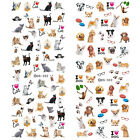Nail Art Water Decals Cute Dog Lovely Cat Manicure Transfer Stickers Decoration
