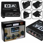 Portable Coaxial Toslink Digtal to Analog Audio Hi-Fi Stereo Amplifier Adapter