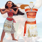 US SHIP!PL Movie Polynesia Princess Moana Adult Cosplay Costume Dress+Necklace