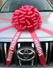 Large Big bow for cars with Personalised tails ALL COLOURS Christmas Birthday