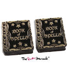 TFB - HAPPY HALLOWEEN WITCHES SPELL BOOK STUD EARRINGS FUNKY QUIRKY NOVELTY COOL