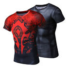 Mens T-shirt Cosplay Compression Movies Superhero Tight Gym Tops Athletic Tee