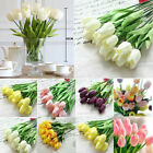1/10x Tulip Artificial Flower Latex Real Touch Bridal Wedding Bouquet Home Decor