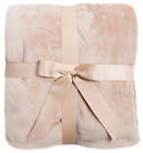 Luxurious Cozy Heavy Thick Solid Flannel Plush Soft Blanket Throws image